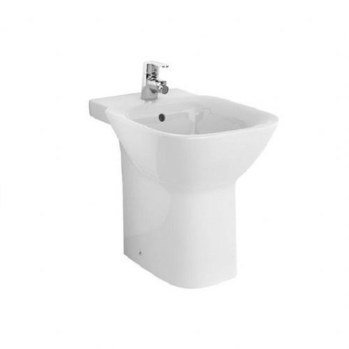 Roca Debba Floor Standing Bidet - Soft Close Bidet Cover - 1 Tap Hole - White